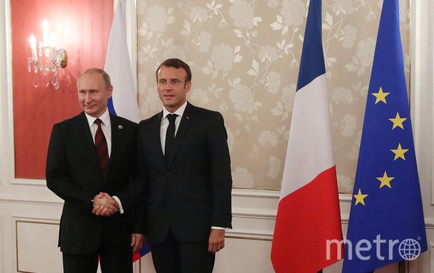 Макрон и Путин на саммите G20 в Осаке. Фото AFP