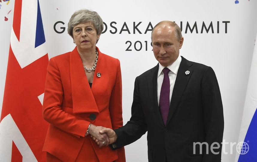 Владимир Путин и Тереза Мэй. Фото AFP