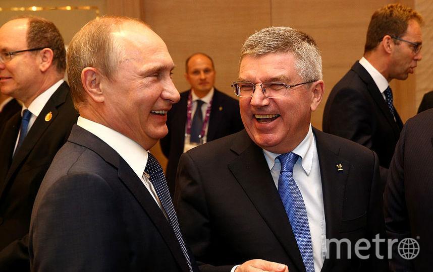 Владимир Путин встретился с президентом Международного олимпийского комитета. Фото Getty