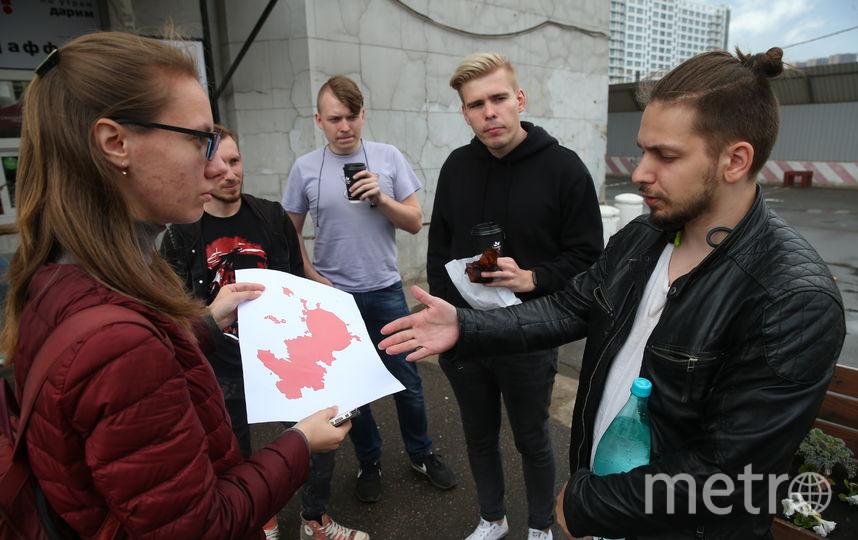 Ивану Баранову очертания столицы напомнили амёбу. Фото Василий Кузьмичёнок