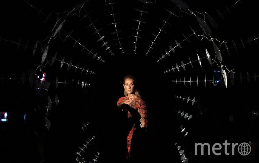 Селин Дион в платье-сетке 1 июля 2019. Фото Getty