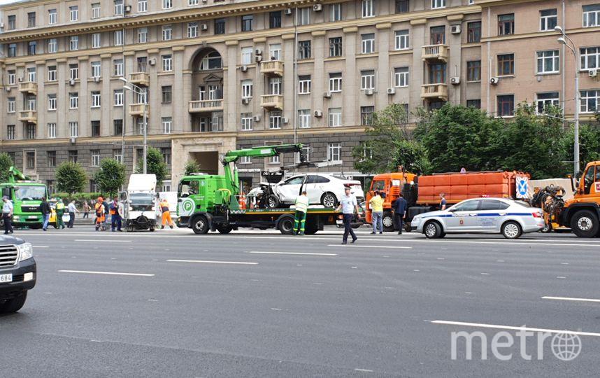 """Место ДТП. Фото агентство """"Москва""""."""
