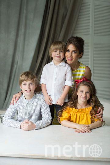 Юлия Барановская с детьми. Фото Фото предоставлено агентом Барановской.