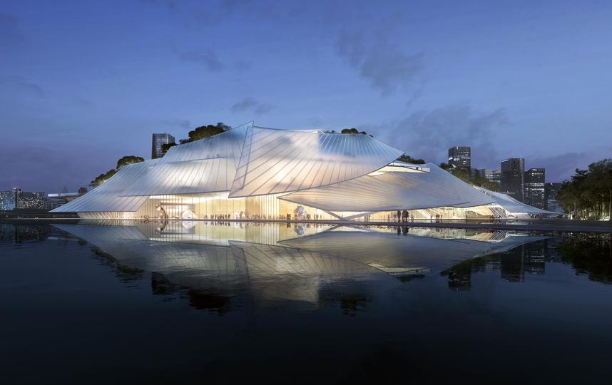 Практически прозрачная крыша будет светиться в темноте. Фото instagram @MAD Architects