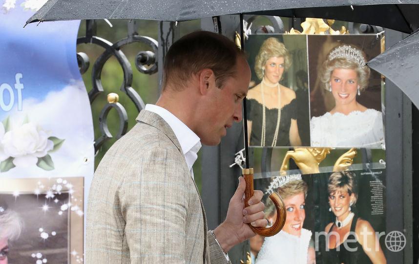 Принц Уильям в одну из годовщин смерти мамы принцессы Дианы. Фото Getty