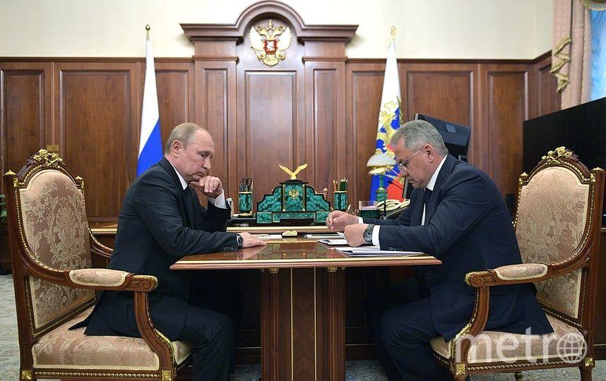О трагедии на следующий день Владимиру Путину доложил Сергей Шойгу. Фото kremlin.ru