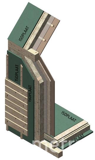 "Схема обшивки дома с плитами Изоплат. Фото ""Metro"""