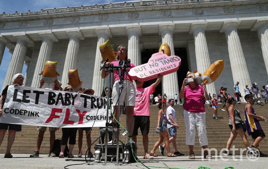 Активисты устроили протесты у мемориала Линкольну в Вашингтоне. Фото Getty