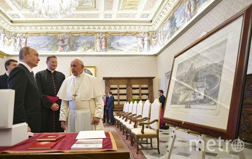 В конце встречи произошёл обмен подарками. Фото AFP
