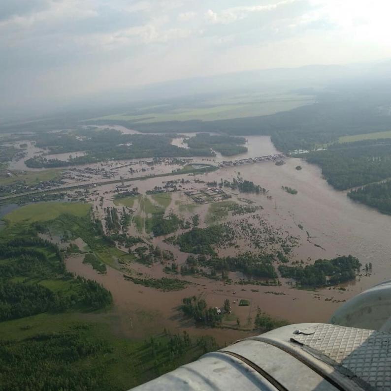 Последствия паводка в Иркутской области. Фото правительство региона