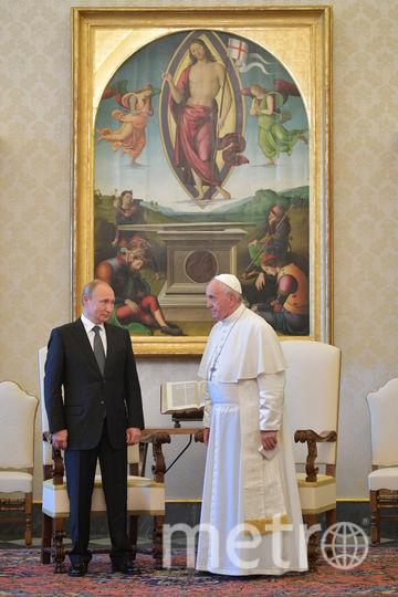 Встреча проходила в Апостольском дворце в Ватикане. Фото AFP