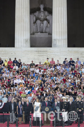 Дональд и Мелания Трамп в День независимости. Фото Getty