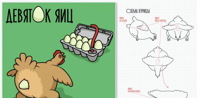 Девяток яиц.