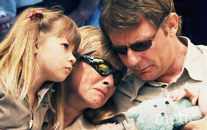 Семья Ирвина на его похоронах. Фото Getty