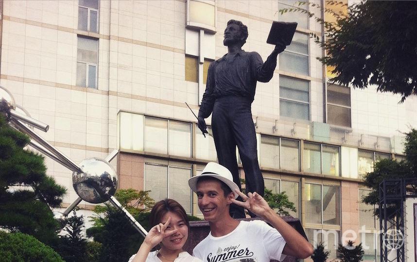 Путешествуя по Южной Корее, обнаружили памятник Пушкину в центре Сеула, на одной из главных улиц! Тч и там знают про Александра Сергеевича! Фото Иван