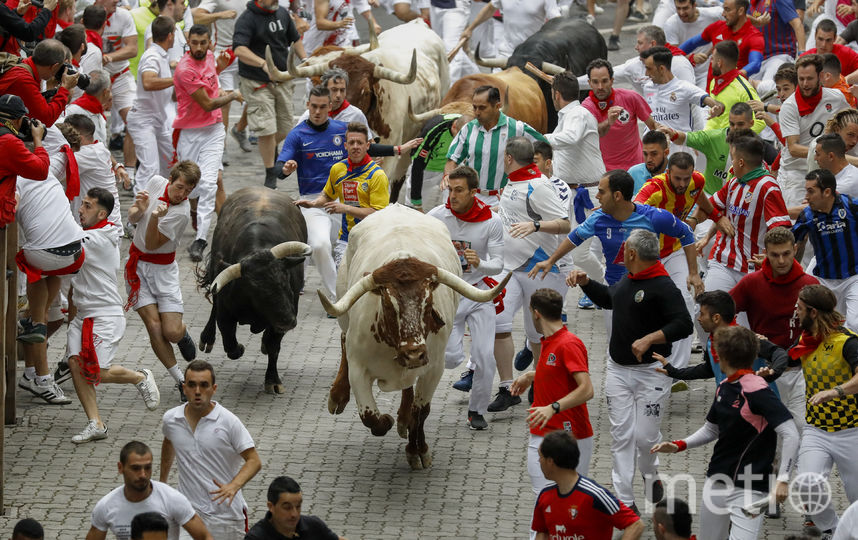 Забег с быками на Сан-Фермине - 2019 год. Фото Getty