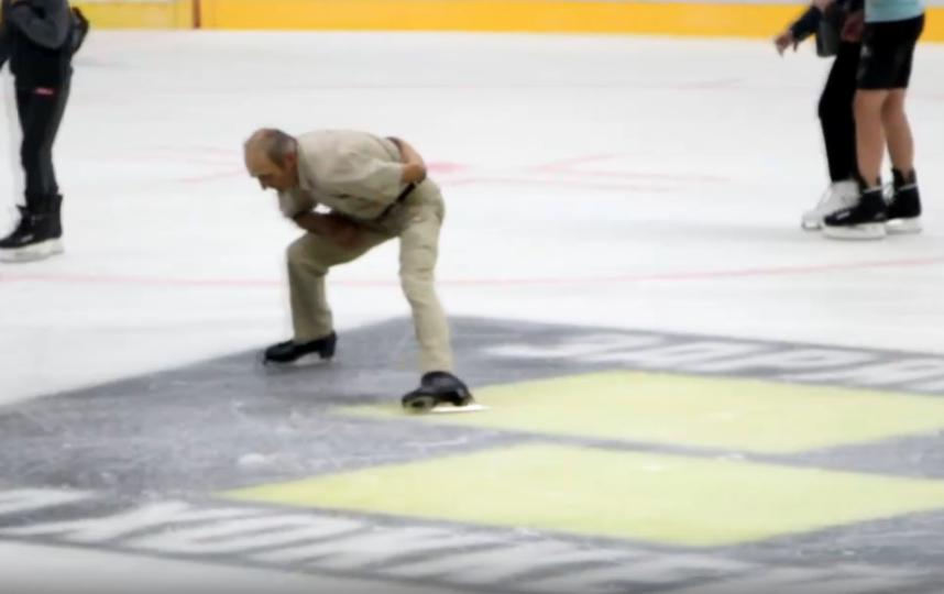 """Валерий Мищук на льду в Бресте. Фото https://vk.com/video-115914323_456239354, """"Metro"""""""