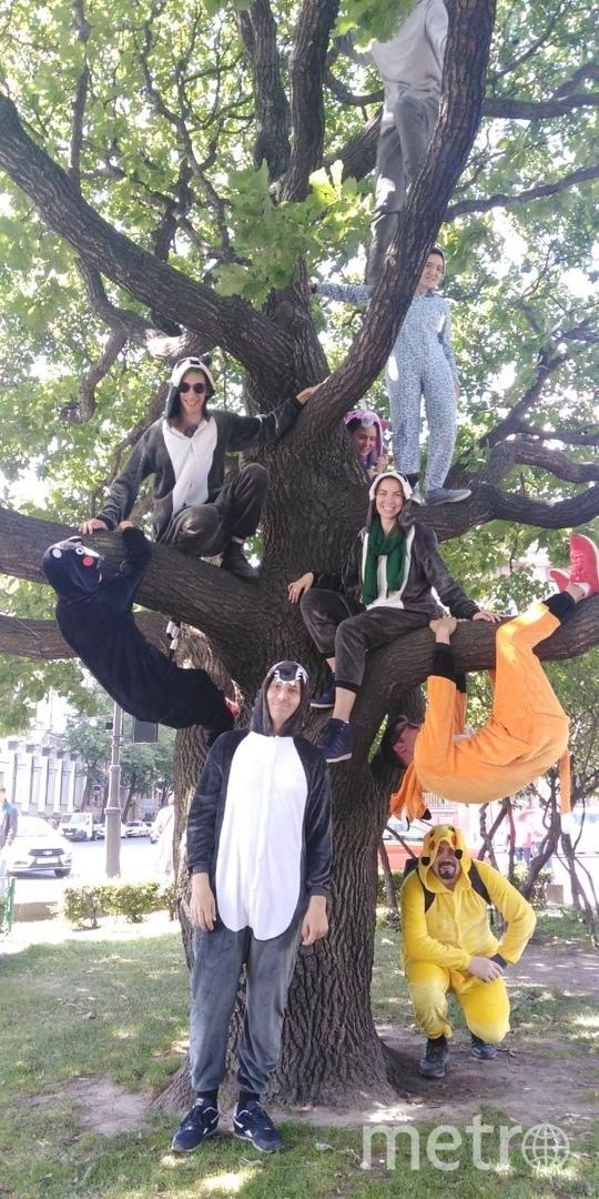 В один из выходных компания петербуржцев устроила долгий поход в пижамах. Фото предоставлено героиней публикации