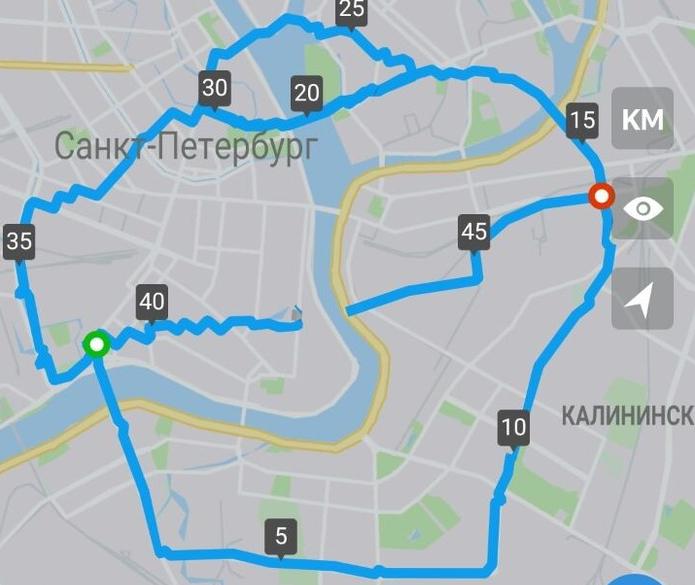 На карте Петербурга появился кекс. Фото предоставлено героиней публикации