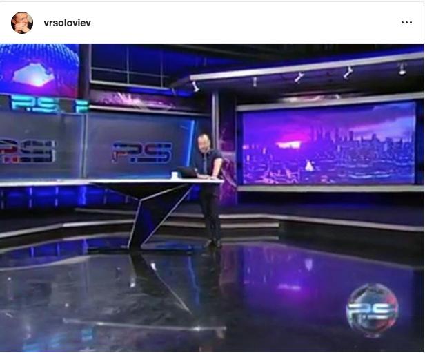 """В прямом эфире телеведущий компании «Рустави 2» Георгий Габуния допустил нецензурные высказывания в адрес Владимира Путина. Фото """"Metro"""""""
