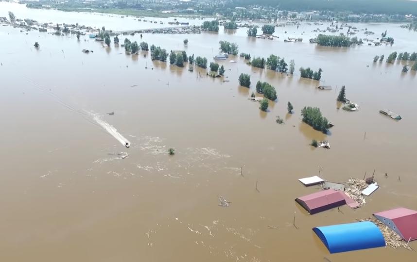 Последствия паводка в Тулуне. Фото youtube.com/watch?v=3xeX9zWhXTA