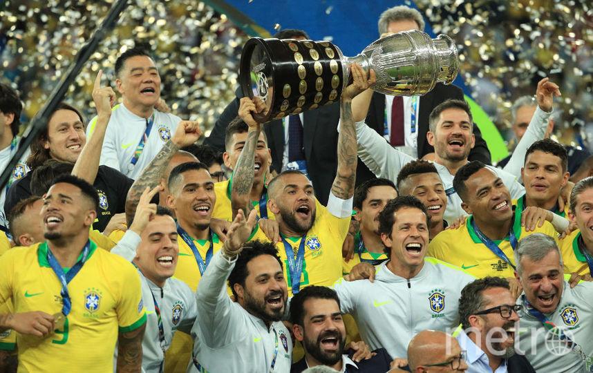 Бразилия завоевала золото Копа Америка, играя в меньшинстве. Фото Getty