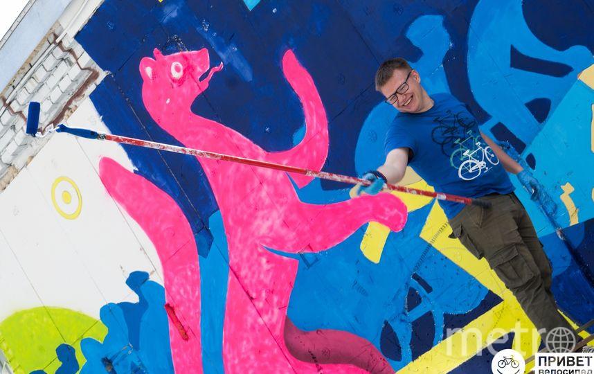 Авторы планируют создавать новые граффити на тему велосипедов и городской среды. Фото Предоставлено организаторами