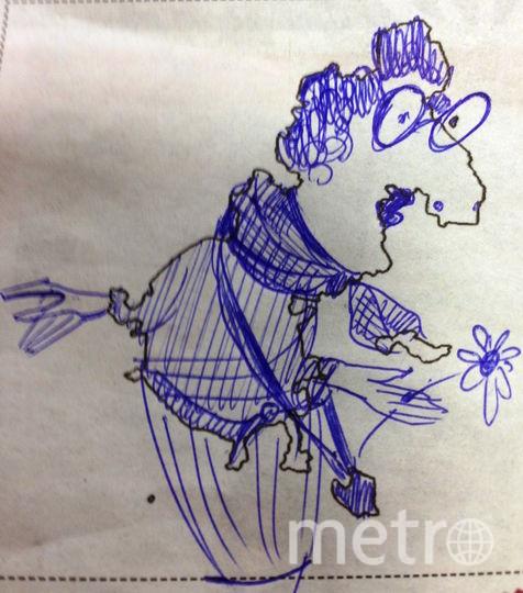 Рисунок очертаний перевернула вверх ногами и получилась пожилая туристка из Англии. Фото Наталья.