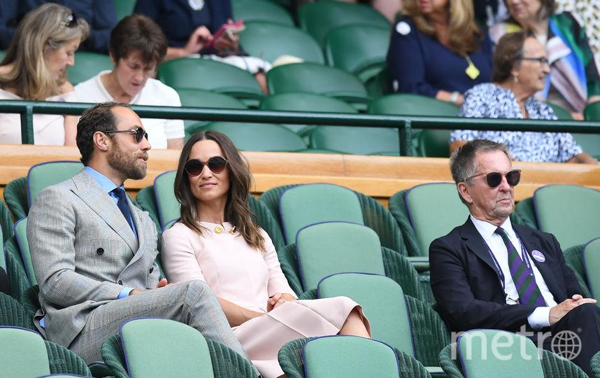 Пиппа и Джеймс Миддлтон на Уимблдонском турнире. Фото AFP
