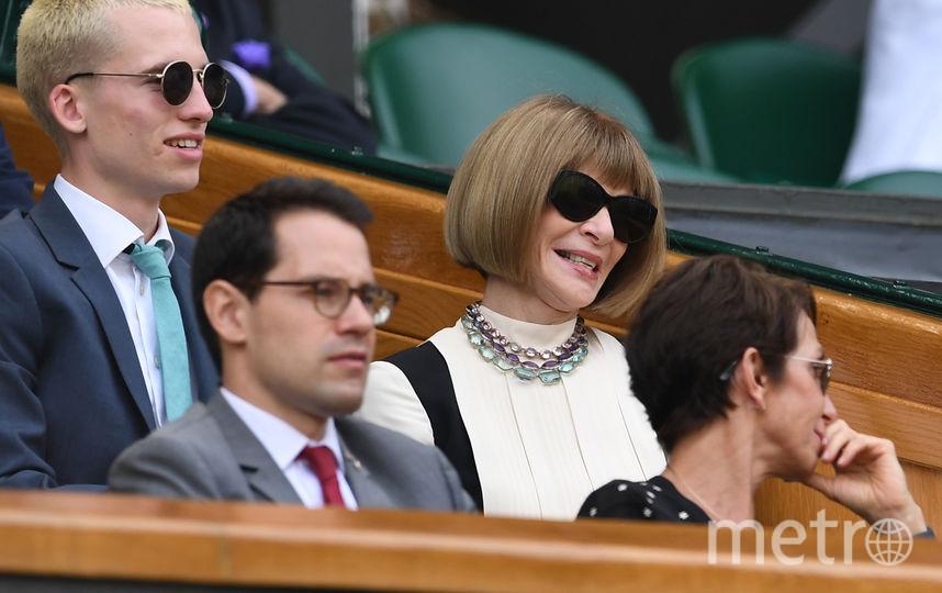 Анна Винтур на Уимблдонском турнире. Фото AFP