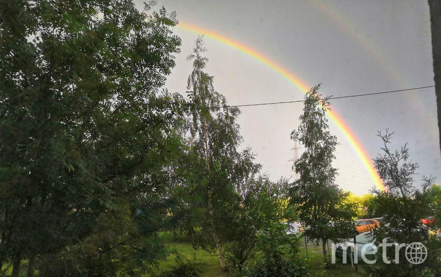 Фото радуги в Петербурге из соцсетей. Фото https://vk.com/spb_today, vk.com