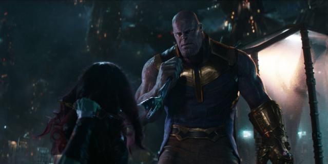 """Танос, """"Мстители: война бесконечности""""."""