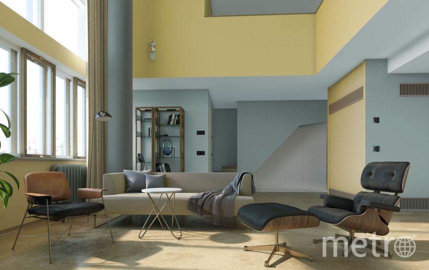 Проектное решение жилой комнаты. Фото предоставлено «Гинзбург Архитектс», Предоставлено организаторами