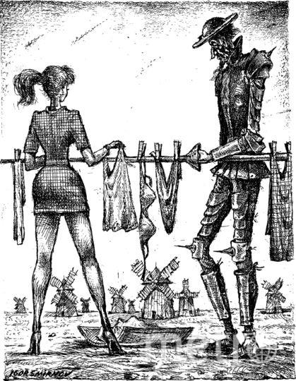 Борьбе с мельницами-великанами Дон Кихот предпочёл красавицу, и его копьё вскоре превратилось в сушилку для белья. Фото предоставлено пресс-службой Рах
