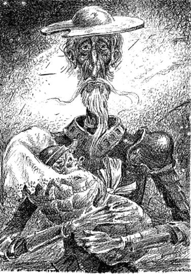 Дон Кихот держит новорождённого... Дон-Кихота как символ смены поколений. Фото  предоставлено пресс-службой Рах