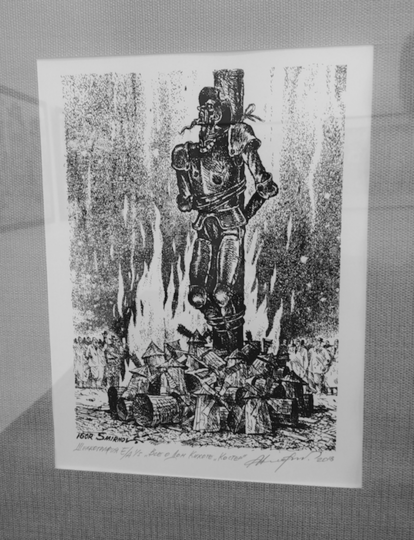 """Дон Кихот в роли Жанны д'Арк. За идеи его сожгли на костре из мельниц. Фото Юлия Долгова, """"Metro"""""""