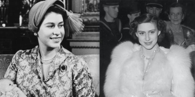Дочери короля Георга VI – Элизабет и Маргарет.