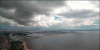 Буря над Петербургом попала на видео камер
