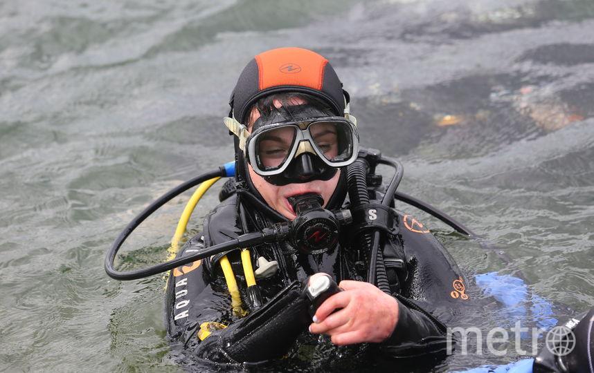 Перед погружениями на открытой воде Маргарита прошла курс из четырёх занятий в бассейне, но всё равно волновалась. Фото Василий Кузьмичёнок