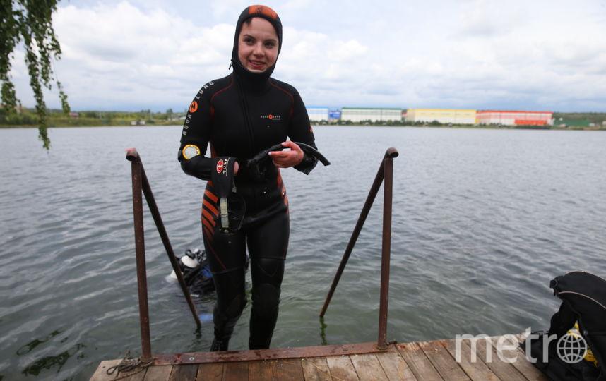 Маргарита Грачёва после погружения. Фото Василий Кузьмичёнок