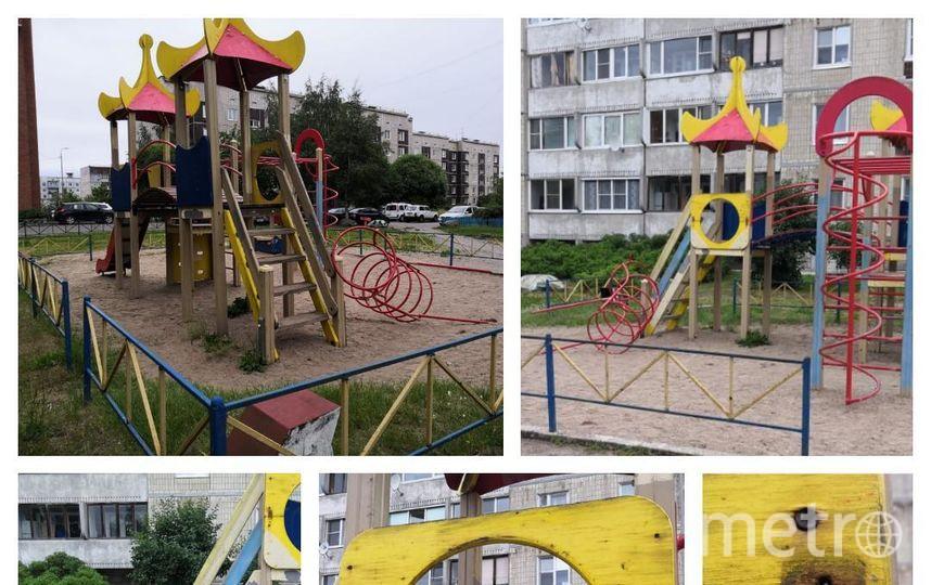 "Металлическая конструкция упала на ребенка. Фото https://vk.com/lenobl.sledcom?z=photo-132217757_457240126%2Fwall-132217757_2467, ""Metro"""