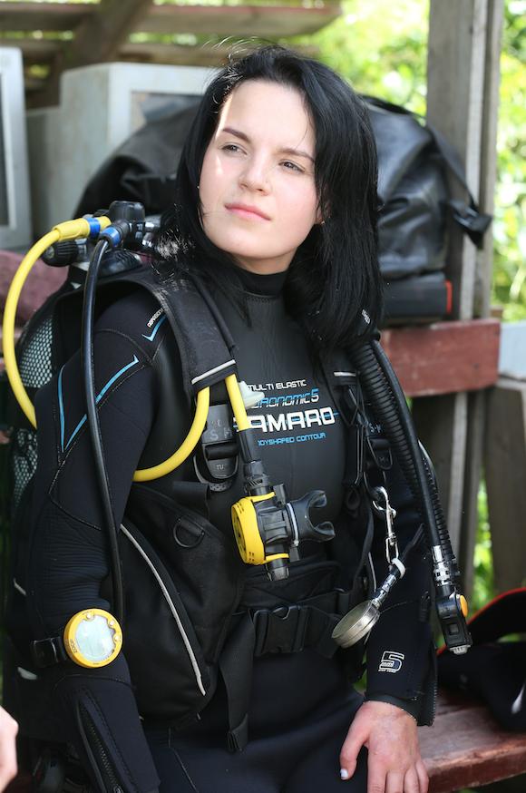 Маргарита Грачёва перед погружением. Фото Василий Кузьмичёнок