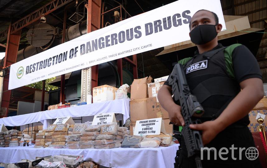 Это не первый случай, когда на филиппинском побережье находят брикеты с наркотическим веществом. Фото AFP