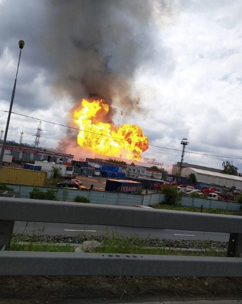 Пожар на ТЭЦ в Мытищах. Фото скриншот https://www.instagram.com/p/BzxSJmCnsCJ/