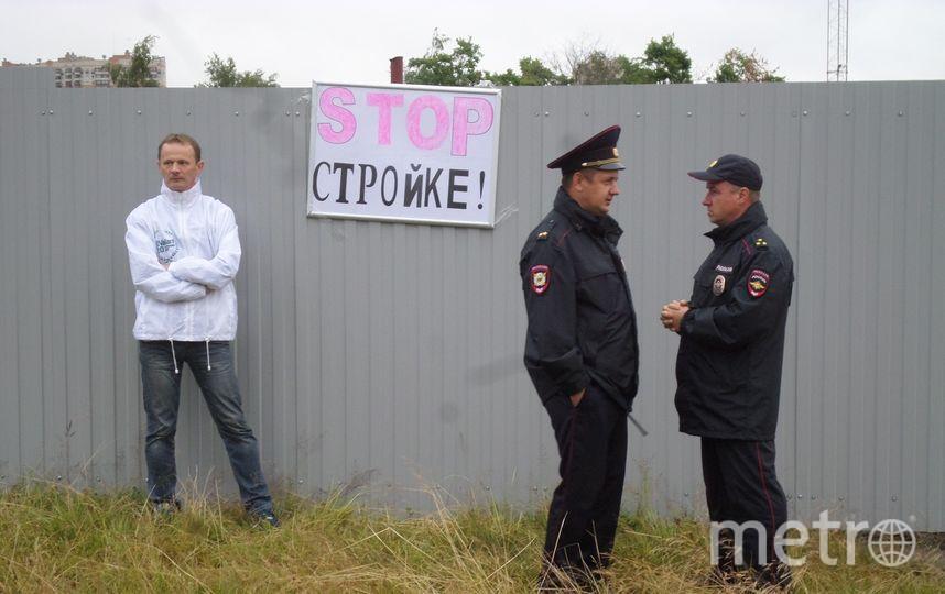 Сход против застройки парка и вырубки деревьев. Фото vk.com/kalininskiyzapark, vk.com
