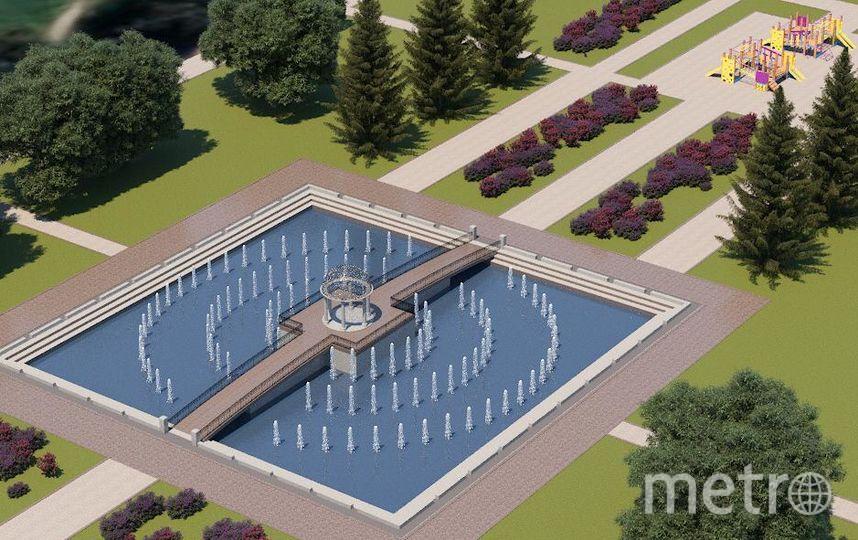 Проект фонтана в Любашинском саду. Фото пресс-службы Водоканала