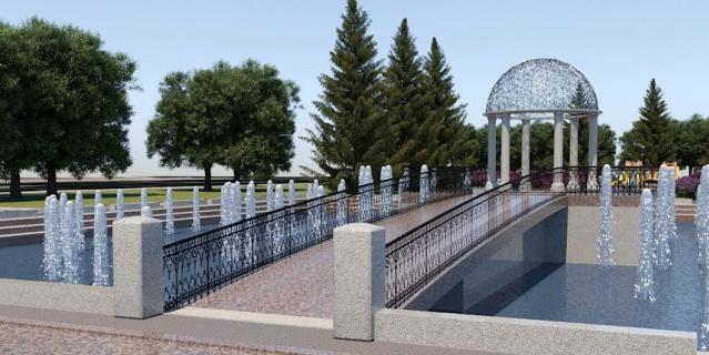Проект фонтана в Любашинском саду.
