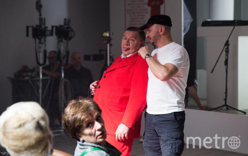 Роман Мадянов и Пётр Буслов дурачатся на съёмках. Фото Предоставлено организаторами