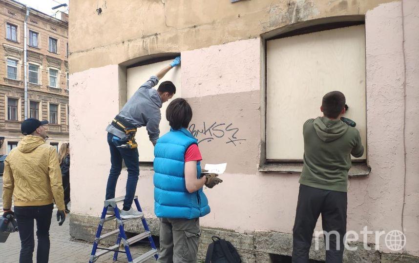 В Петербурге активисты законсервировали заброшенный дом. Фото mytndvor, vk.com
