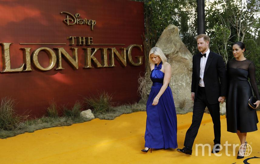 """Меган Маркл и принц Гарри на премьере фильма """"Король Лев"""". Фото AFP"""